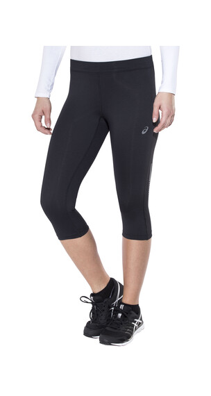 asics Knee Tight Hardloop Shorts Dames zwart